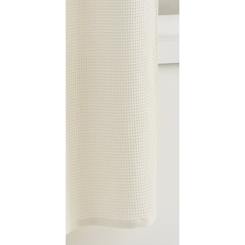 Waffle Cotton Shower Curtain