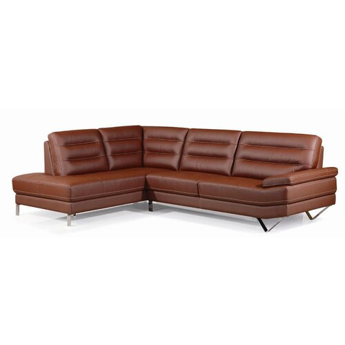 Barroco Leather Facing Left Sectional