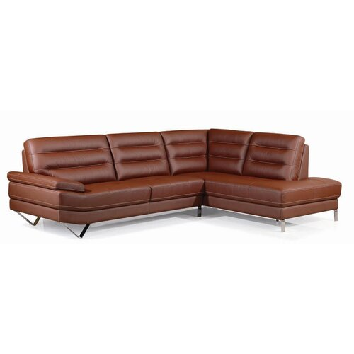 Barroco Leather Facing Right Sectional