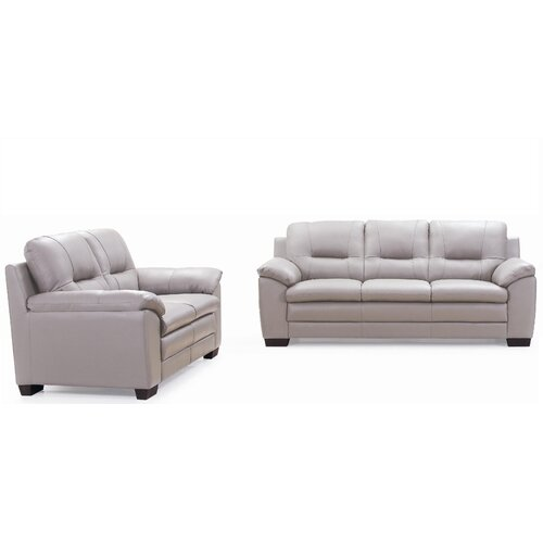 Emma Sofa and Leather Love Seat