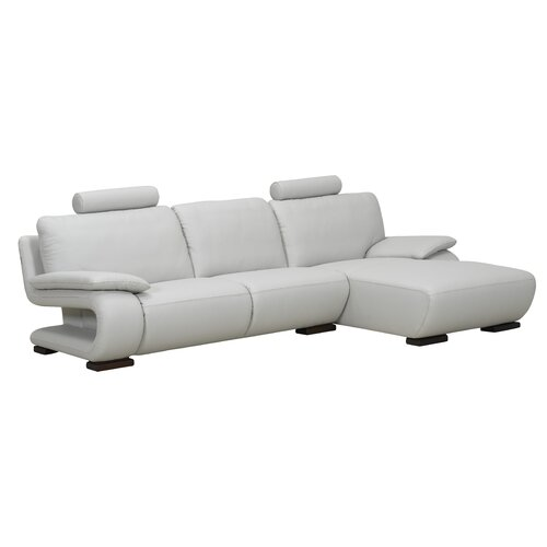 Charlotte Right Leather Sectional