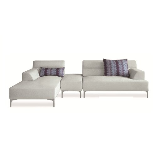 New Spec Inc Manhantan Breezy Left Fabric Sectional