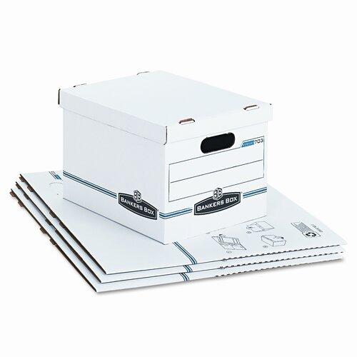 Bankers Box® Stor/File Box w/Handles, Letter/Lgl, 12 x 15 x 10, WE/Blue, 4/Carton