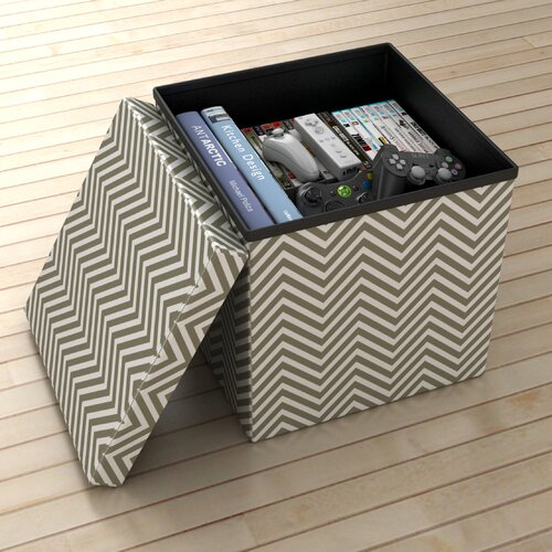 Atlantic Chevron Storage Ottoman