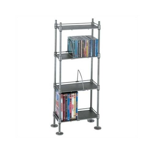 Atlantic 100 CD or 51 DVD 4-Tier Adjustable Multimedia Storage Rack