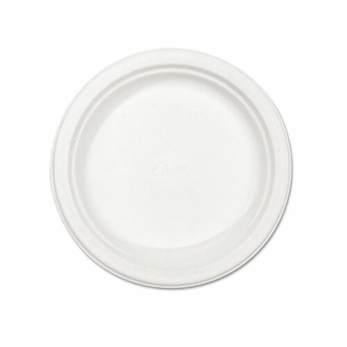"Chinet Classic Paper Plates, 8-3/4"" Diameter, White, 125/Pack"