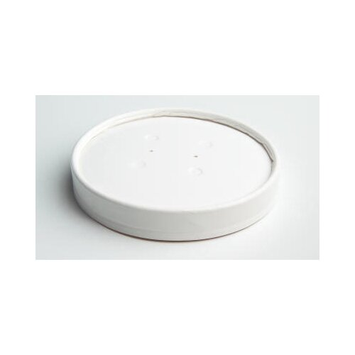 Chinet Vented Paper Lids for 16 - 32 oz Cups in White