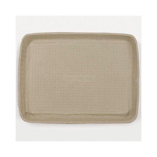 Chinet Savaday Molded Fiber Rectangular Food Trays in White