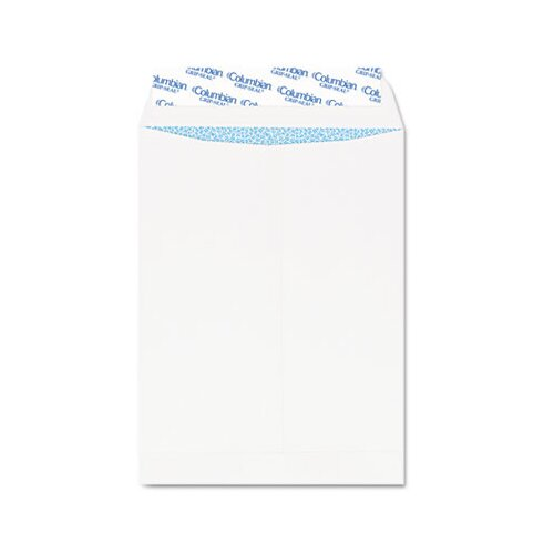 Columbian Envelope Grip-Seal Security Tinted Catalog Envelopes, 10 x 13, 28lb, White Wove, 100/Box