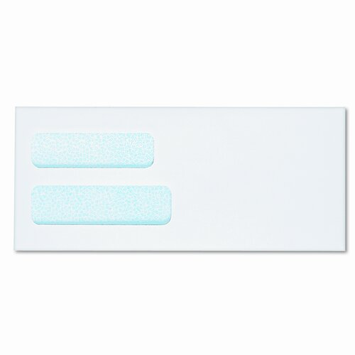 Columbian Envelope Dubl-Vue Grip-Seal Window Envelopes, Paper, 4 1/8 x 9 1/2, White, 500/bx