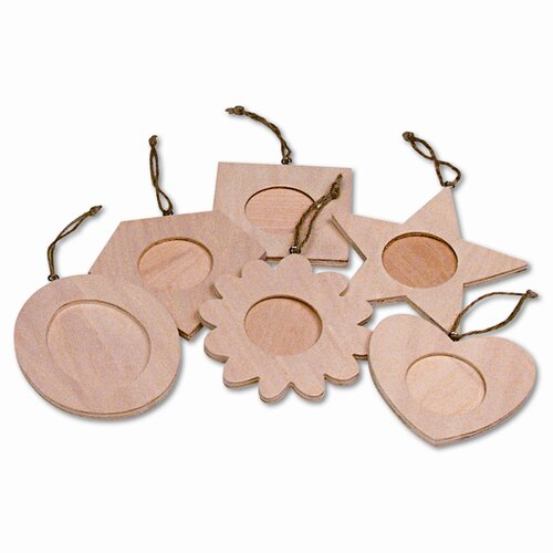 Creativity Street® Wood Frame Ornaments, 36 Frames, 1 Set