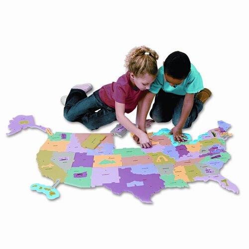 Creativity Street® Wonderfoam Giant U.S.A Puzzle Map, 73 Pieces