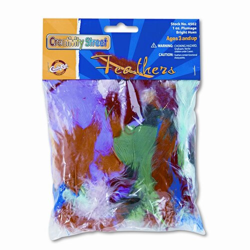 Creativity Street® Bright Hues Feather Assortment, Approximately 325 Feathers per Pack