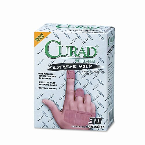 Curad Extreme Hold Bandages, Assorted Sizes, 30 per Box