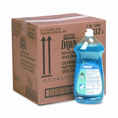 Procter & Gamble Commercial Dawn Dishwashing Liquid, 38oz Bottle, 8/carton
