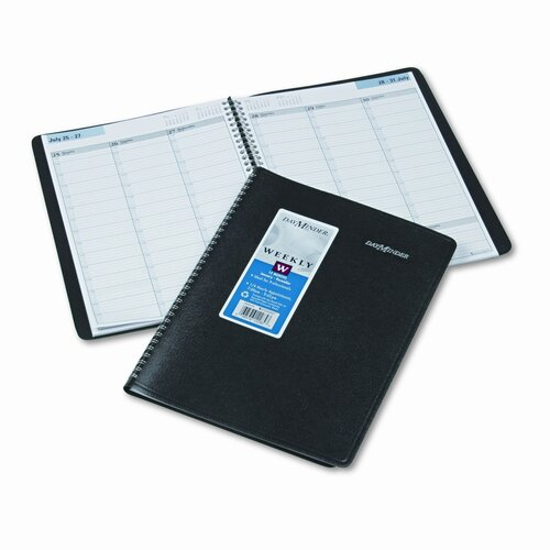 DayMinder Weekly Appointment Book, 15-Minute Ruling, 8 x 11, Black, 2015