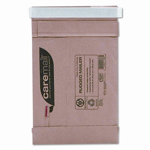 Duck® Caremail Rugged Padded Mailer, Side Seam, 6 x 8 3/4, Light Brown, 25/pack