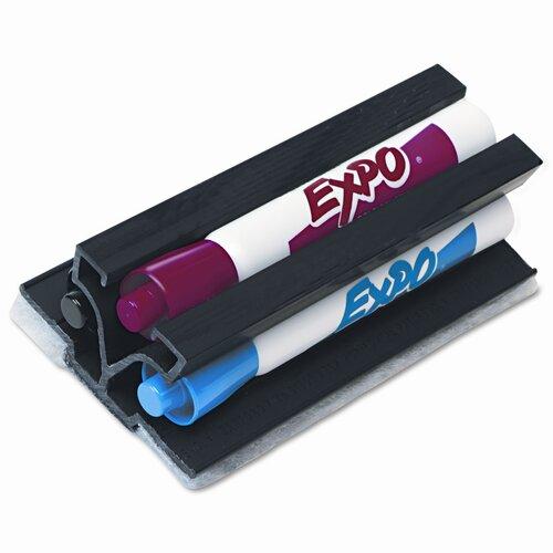 EXPO® Markaway3 Eraser & Dry Erase Marker Set, Chisel, Assorted, 3/Set