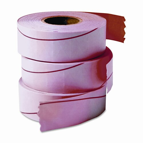 Garvey One-Line Pricemarker Labels, 7/16 x 13/16, Fluor Red, 1200/Roll, 3 Rolls/Box