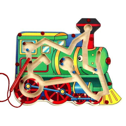 Magnetic Train Maze Toy