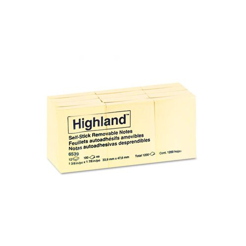 Highland™ Self-Stick Pads, 12 Pads/Pack