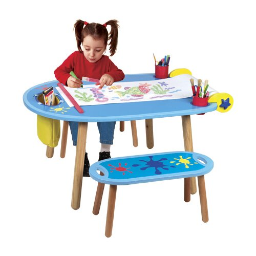ALEX Toys Little Hands Kids' 3 Piece Table and Bench Set