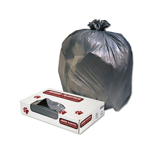 Jaguar Plastics® Low-Density Can Liner 60-Gallon, 1.1 Mil in Gray