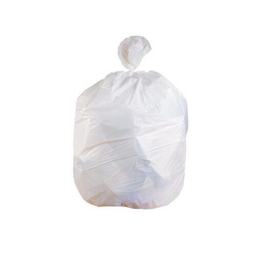 Jaguar Plastics® Low-Density Can Liner 33-Gallon, 0.70 Mil in White