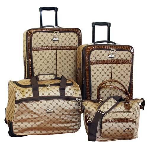 American Flyer Signature Expandable 4 Piece Luggage Set