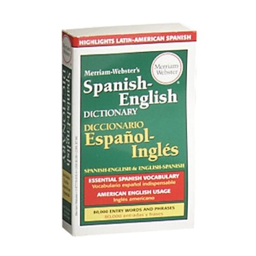 "Merriam-Webster Hardback Spanish-English Diction., 80000 Entries, 800 Page, 6-7/8""x4-3/16"""