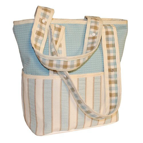 Spa Blue Tote Diaper Bag
