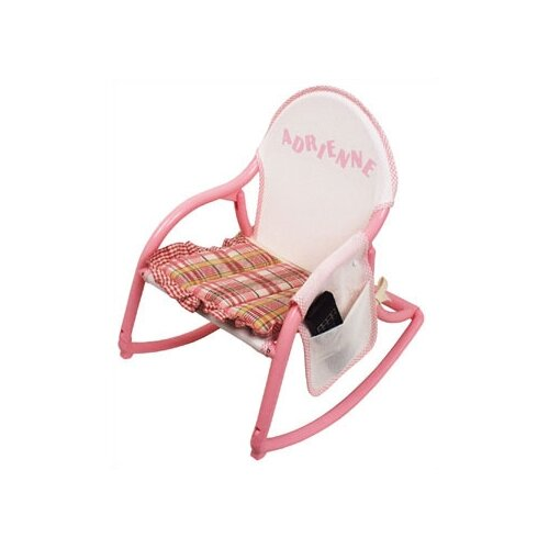 Hoohobbers Personalized Rocking Chair in Pastel Mesh
