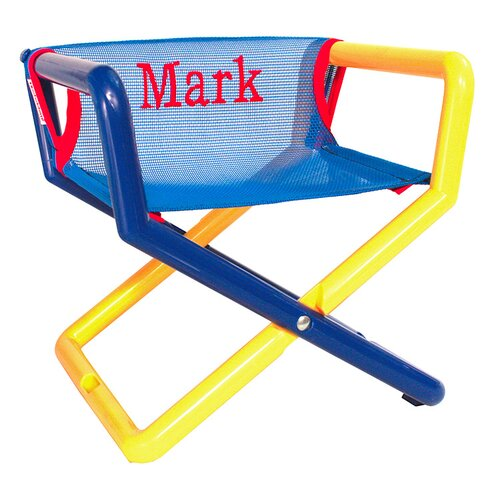 Hoohobbers Personalized Junior Director Chair in Blue Mesh