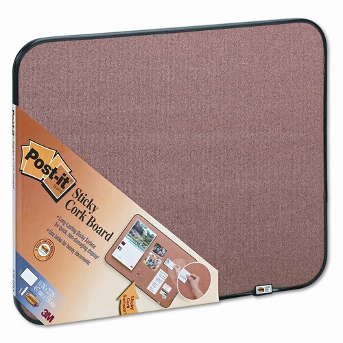 Post-it® Sticky Self-Stick Cork 1.56' x 1.87' Bulletin Board