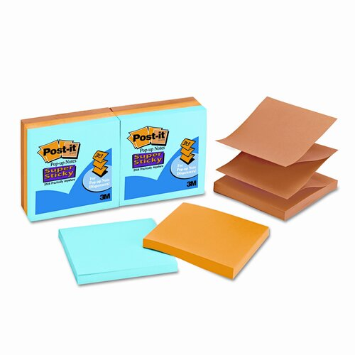 Post-it® Pop-Up Notes Super Sticky Pop-Up Refill, 3 X 3