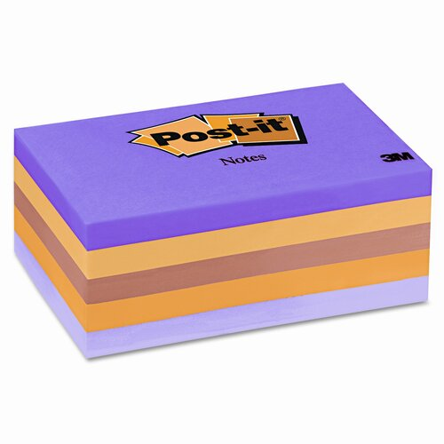 Post-it® Original Note Pad, 5 100-Sheet Pads/Pack