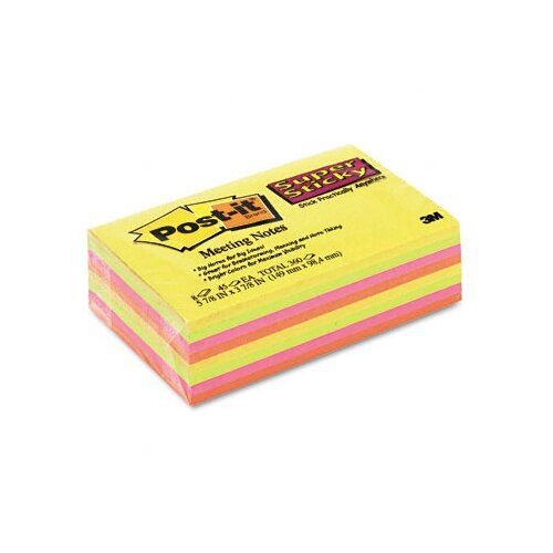 Post-it® Super Sticky Large Format Note Pad, 8 Pack