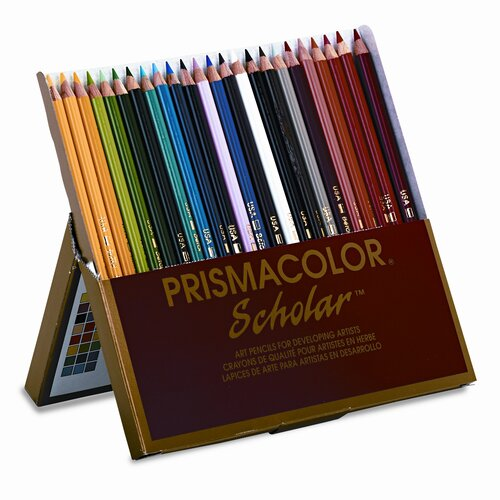 Prismacolor® Scholar Colored Woodcase Pencils, 24 Assorted Colors/set