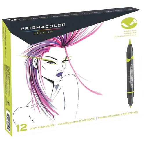 Prismacolor® Double Ended Brush Marker (12 Pack)