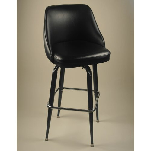 "Alston Bucket 30"" Swivel Bar Stool with Cushion"