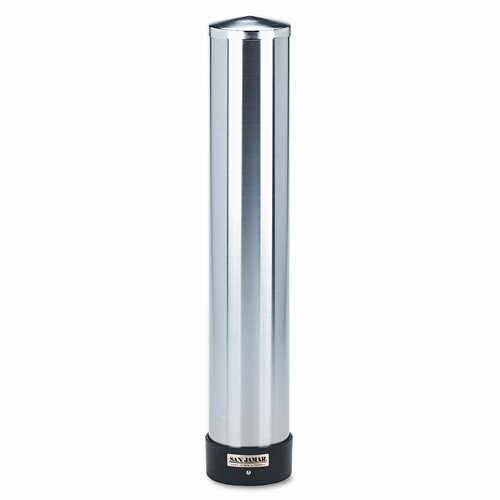 Large Water Cup Dispenser with Removable Cap,Wall Mounted, Stainless Steel