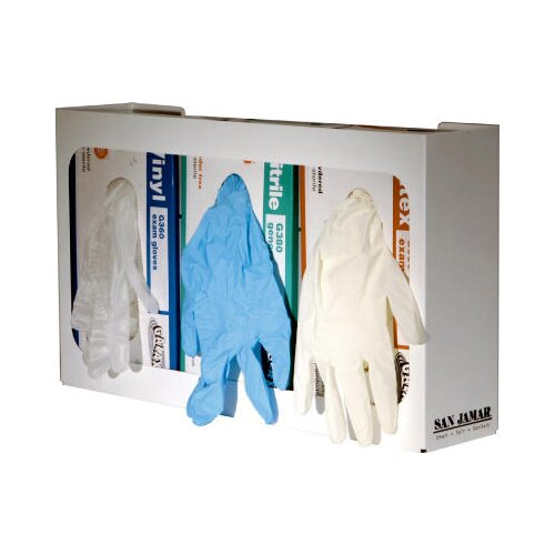 San Jamar Disposable Glove Dispenser in White