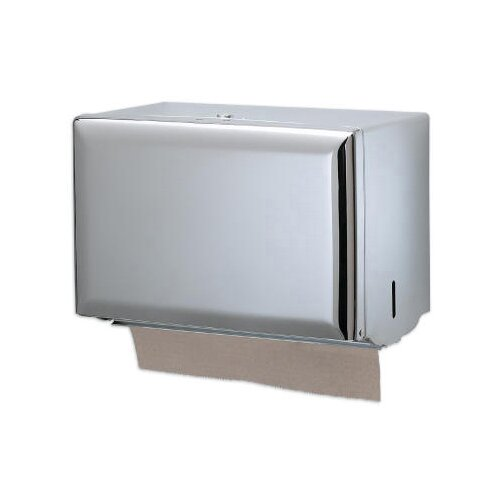 San Jamar Standard Key-Lock Single fold Towel Dispenser in Chrome