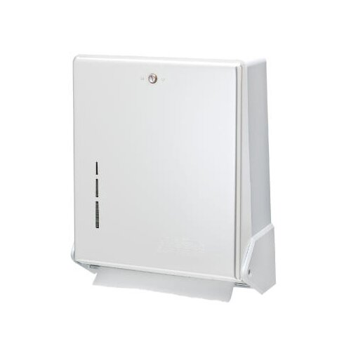 True Fold Metal Front Cabinet Towel Dispenser in White