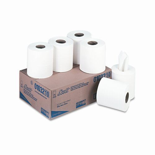 Scott SCOTT Roll Control Center Pull 1-Ply Paper Towel - 700 Sheets per Roll / 6 Rolls