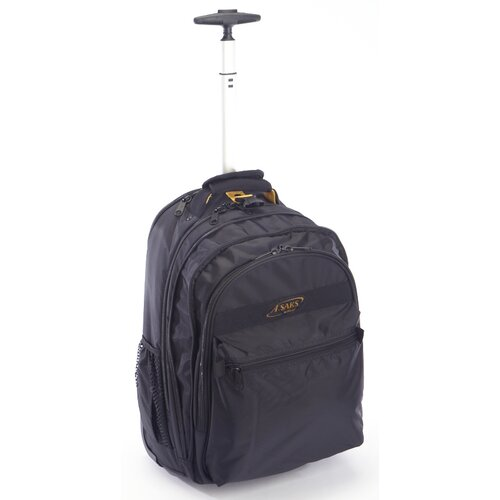 Expandable Rolling Trolley Laptop Backpack