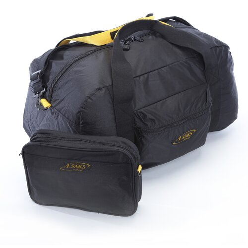 A.Saks Folding Carry-On Duffel with Pouch