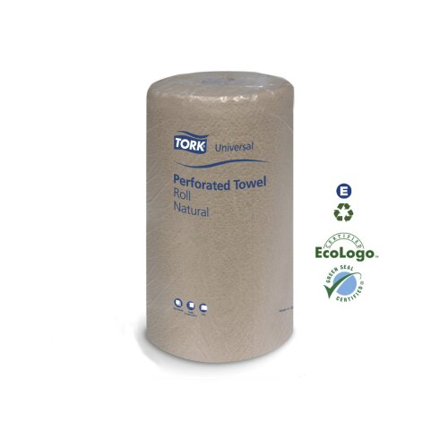 Tork® Universal Perforated Towel Roll 2-Ply in White