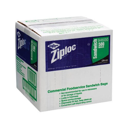 Ziploc® Resealable Sandwich Bags in Clear