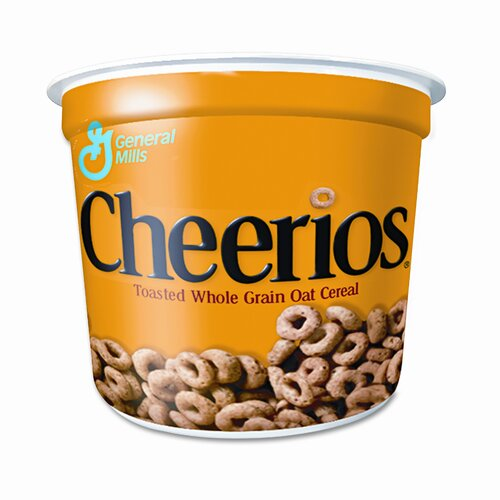 Cheerios Cheerios Breakfast Cereal, Single-Serve 1.3oz Cup, Six Cups/box